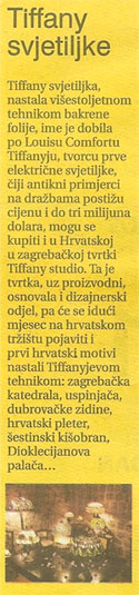 Tiffany Studio Večernji list